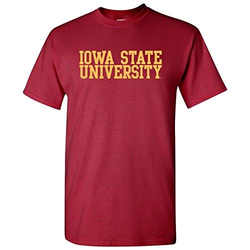 - Iowa State Cyclones Block Basic T-Shirt - Medium - Cardinal