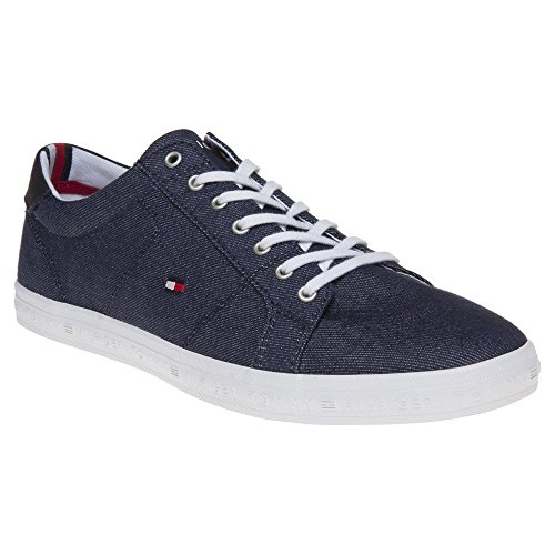 Tommy Hilfiger Essential Long Lace Mens Sneakers Blue