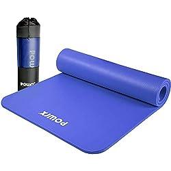 POWRX Gymnastikmatte Premium inkl. Trageband + Tasche + Übungsposter GRATIS I Hautfreundliche Fitnessmatte TÜV Süd…