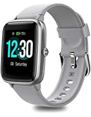 Fitpolo Smart Watch Fitness Tracker 1.3 inches Color Touchscreen Heart Rate Monitor IP68 Waterproof Step Sleep Trackers Calorie Burned Counter Smartwatch for Women Men Compatible with iPhone Samsung Android Phones