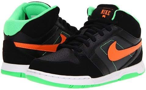 Nike Mogan Mid 3 Jr Skate Shoe - Boys' Black/Poison Green/Anthracite/Total Orange, 11.0
