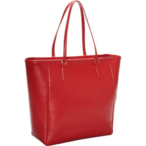 'Charlotte' Saffiano Tote Bag (Red) (5.25H x 13.25W x 12.5D), Bags Central