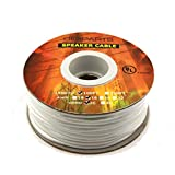 DIGIPARTS pure oxygen free copper UL CL3 Listed FT4 rated In wall rated speaker cable wire (FREE SHIPPING) (100FT 14GA/2C)