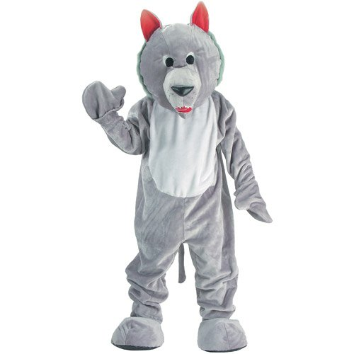 Costumes Economy Mascot (Hungry Wolf Economy Mascot Adult)