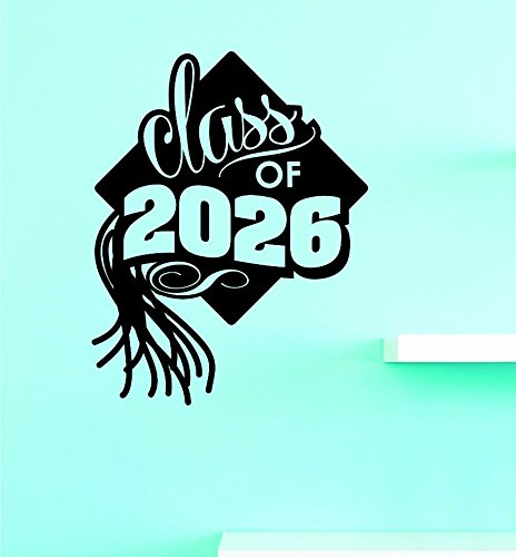 Design with Vinyl US V JER 2804 3 Top Selling Decals Class Of 2026 Wall Art 20 x 40 Black