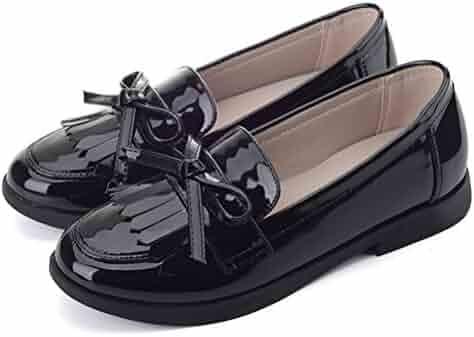 206bee464ad Flyrioc Girl s Casual School Uniform Dress Shoe Slip-on Ballet Flats Shoes  (Little Kids