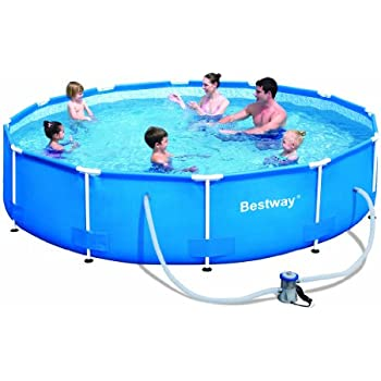 Steel pro 12 39 x 30 frame pool set garden for Bestway pool obi