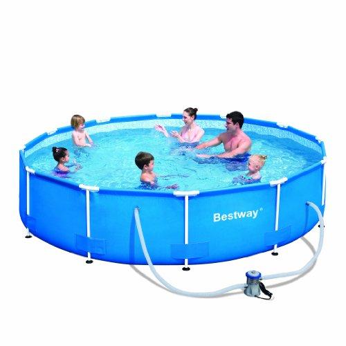 Bestway 12-Foot by 30-Inch Steel Pro Round Frame Pool Set