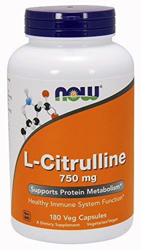 NOW L-Citrulline 750 mg, 180 Veg Capsules by Now Sports