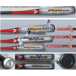 Brand NEW 2018 Phantom Little League Youth Baseball Bat 29 Inch 17 oz (-12) made from VX99 Ultra Strength Alloy by Vikram Sports at Factory Direct Price (Youth Little Baseball League Bats)