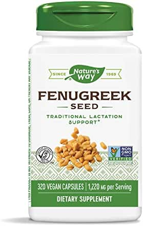 Nature's Way Fenugreek Seed Non-GMO Project Verified TRU-ID Certified Vegetarian;  320 Count