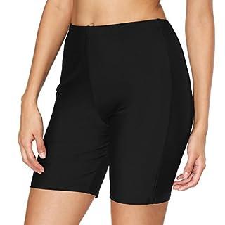 ATTRACO Women's Boardshort Swim Bottom High Waisted Tankini Swimwear Shorts Black XX-L