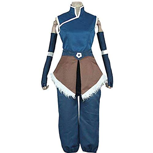 Korra Halloween Costume (MYYH Anime Korra Cosplay Costume Blue Outfit)