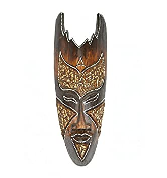 Artisanal Máscara de Madera 30 cm - decoración étnica Chic ...