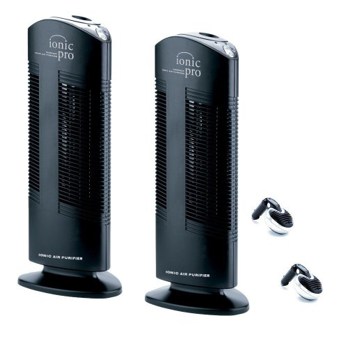 Ionic Pro CA200T Twin Pack Compact Ionic Air Purifier with Bonus Car Ionizers