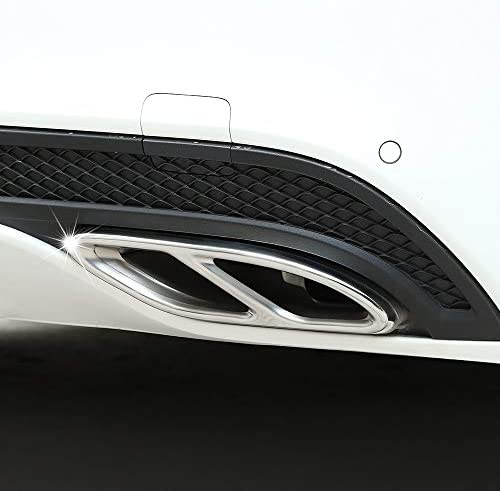 NGHSDO Auspuffblende for Mercedes-Benz-Auto-Aufkleber modifiziertes Zubeh/ör W205 W117 C117 GLC//CLA-Schwanz-Hals-Pasten-Auspuff-Pipe-Hellband Auspuff Endrohr W213