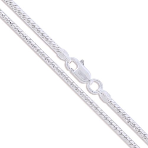 Sterling Silver Magic Snake Chain 2.5mm 925 Italy Brazili...
