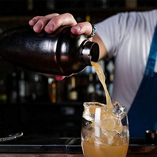 AKDSteel Cocktail-Shaker aus Edelstahl, 500 ml 500 ml Schwarz