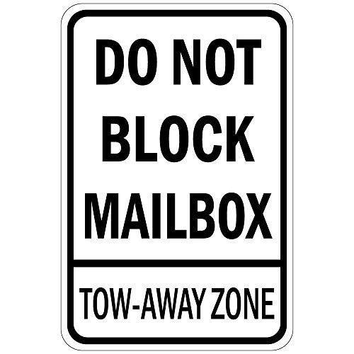 Do Not Block Mailbox Tow Away Zone Vinyl Sticker Decal 8