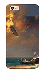 High-quality Durable Protection Case For Iphone 6(rhads Fantasy Mood Emotion Sorrow Sad Whales Animals Painting Artistic Art Sky Cloudsdigital ) For New Year's Day's Gift