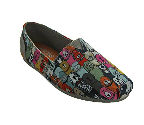 BOBS from Skechers Women's Plush-Wag Party Flat, Multi, 10 M US