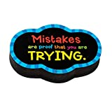 Dowling Magnets Magnetic Whiteboard Eraser: Mistakes Quote (DO-735252)