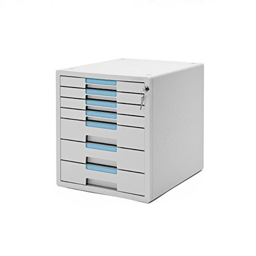 System-2 Key File Cabinet 7 Drawers Office Home Desk Supplies Lock Function 1207K by Sys