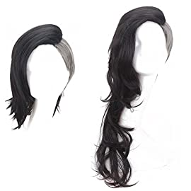 Simpleyourstyle Anime Cosplay Wigs Tokyo Ghouls Long Wigs for Women Short Wigs for Men Popular Shaved Gray and Black Wigs