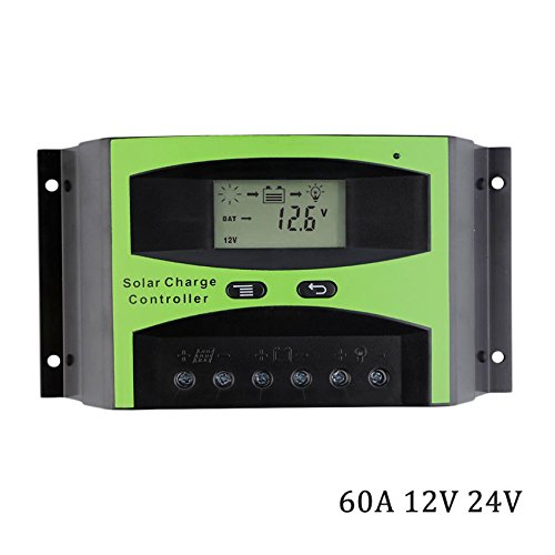 DPJ LCD 40A 50A 60A 12V/24V Solar cell Panel Charger Regulator Battery Controller 1KW 2KW 3KW 500W 600W 800W 1000W 1500W 2000W 3000W (LD2460C)