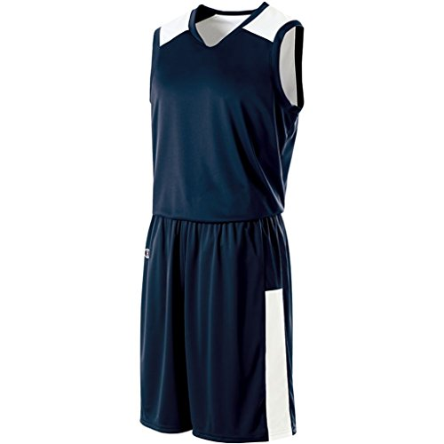 Holloway Ladies Reversible Nuclear Jersey (Large, True Navy/White) by Holloway
