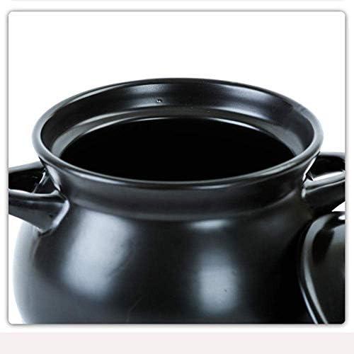UWY Casserole avec couvercles Casserole Pot - Casserole Ragoût Pot Ménage Ragoût Casserole De Riz Grande Capacité Pot De Soupe en Céramique-4.5L