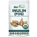 Biofinest Inulin (FOS) Powder (Jerusalem Artichoke) – USDA Organic Pure Gluten-Free Non-GMO Kosher Vegan Friendly Sweetener – Supplement for Healthy Immune System, Heart, Weight Management(1000g)