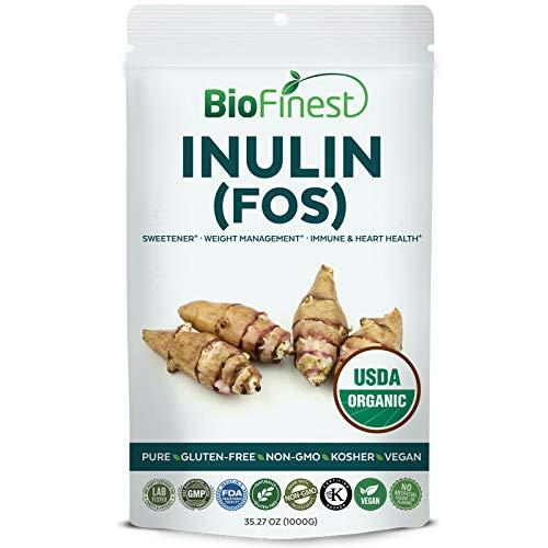 Powder Artichoke (Biofinest Inulin (FOS) Powder (Jerusalem Artichoke) - USDA Organic Pure Gluten-Free Non-GMO Kosher Vegan Friendly Sweetener - Supplement for Healthy Immune System, Heart, Weight Management(1000g))