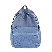 "Artone Denim Cotton Big Capacity Backpack School Daypack Fit 15"" Laptop Blue"