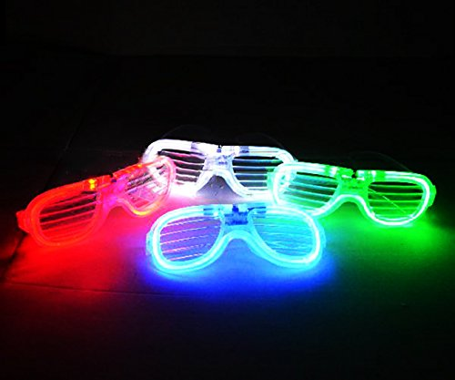 Anthonygift®8 pcs LED light flashing glasses LED glasses toy shutters cold light luminous glasses night club concert party holiday shutter shades (Led Shutter Shades)