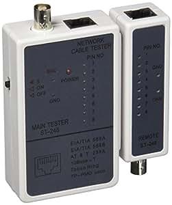 Intellinet Tester Professionale RJ45 e BNC I-CT PRO-LAN - Probador de cable de red