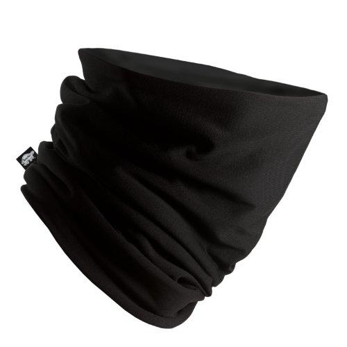 Fur Lined Fleece (Turtle Fur Comfort Shell Pipe Dream Micro Fleece Lined Heavyweight Neck Warmer, Black)