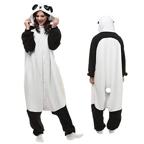 - Hello Today Panda Onesie Adult for Women Men Pajamas Cosplay Sleepwear Bear Costume Cartoon Outfit