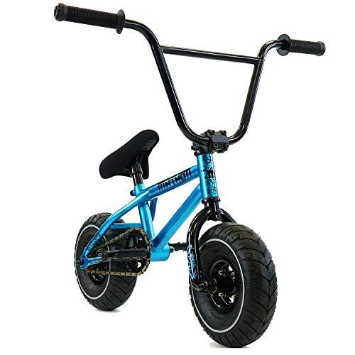 Mayhem Fat Tire Mini BMX Riot Aqua Crank Newest Model Trick Bike