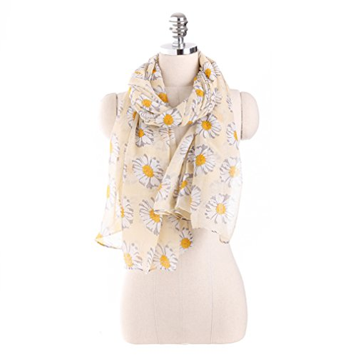 sundayrose-womens-daisy-flower-spring-floral-scarves-wrap-shawl-light-yellow
