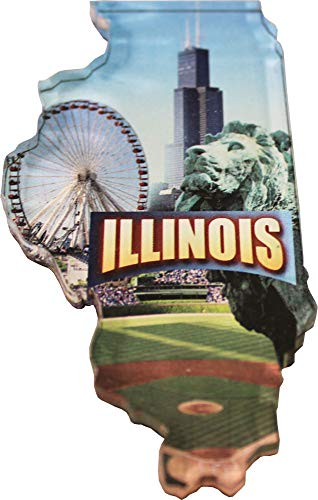Illinois - Scenic Acrylic State Magnet (3