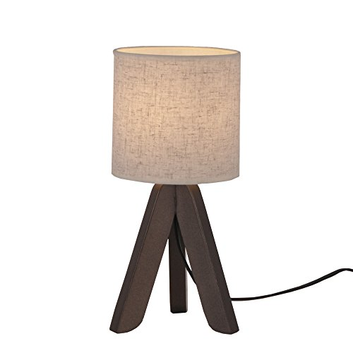 Surpars House Mini Wood Bedside Table lamp with Fabric Shade for Bedroom,Living Room,Baby Room or Office by Surpars House (Image #5)
