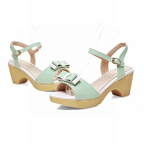 Carol Arc Chaussures Sandales Boucle Vertes Milieu Joli Doux De Talon Femmes F7PwR