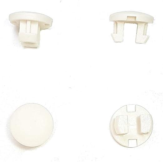 Asia Buy 10 Piezas Persianas horizontales de plástico para riel Inferior de Escalera con tapón de botón de 1/2 Pulgadas – 10 Colores (Marfil): Amazon.es: Hogar