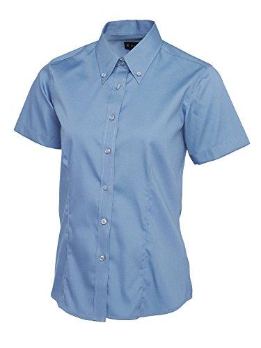 Business Donna Lavoro Blue Camicia Oxford Pinpoint Cameriera Mid Manica Corta A Uniforme OxOq7zRw