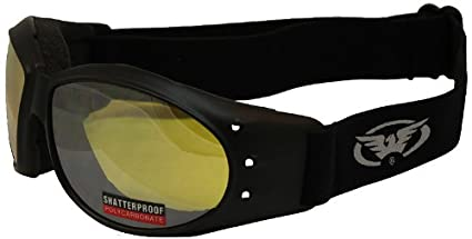 Global Vision ELIMCLM Eliminator Motorcycle Goggles (Black Frame/Clear Mirror Lens)