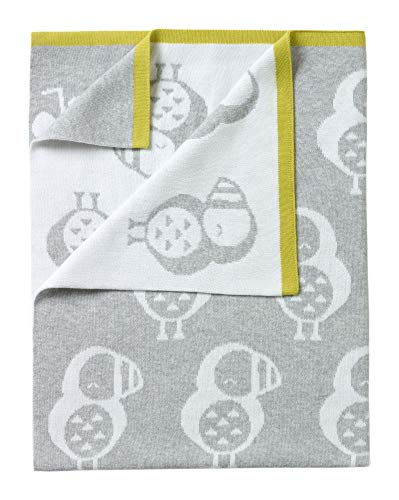 Clair de Lune Piper The Puffin Reversible Baby Blanket, Grey