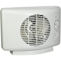 Seabreeze SF11T Sleek 1500-watt Heater Fan Equipped with ThermaFlo Technology, White
