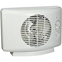 Seabreeze SF11T Sleek 1500-watt Heater Fan Equipped with ThermaFlo Technology, White