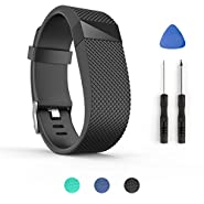 For Fitbit Charge Hr Bands ,ToPoPo Replacement Bands Strap with Tools for Fitbit Charge HR